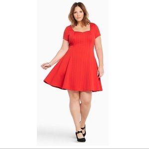 NWT Torrid Sweetheart Red Skater Dress 2X